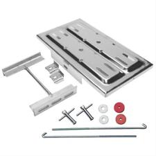Universal Polished Stainless Steel Battery Tray W/ J-Bolts 7.25 W x 13.125 L KIT
