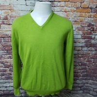 COLLECTION CACHEMIRE MEN'S V-NECK LONG SLEEVE SWEATER SIZE L  A80-02