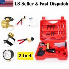 Car Brake Bleeder & Vacuum Pump Gauge Tester Kit Tools DIY Hand Operated Tool US