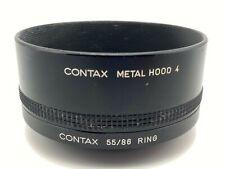 [ EXC Contax Metallo Cappuccio 4 & Anello Adattatore 55/86 Set Da Giappone #A