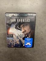 San Andreas 4k HD Blu-ray Digital Dwayne Johnson Alexandra Daddario New Sealed