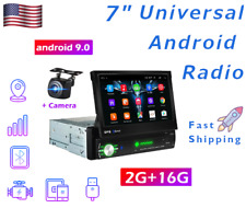 7 inch 1 Din Android Car Radio Flip Out Head Unit Android 9 USB GPS Reverse Cam