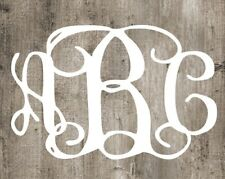 "Clinging Vine Monogram Decal - White - Choose your letters - 4"" wide"