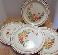 Sweet Flowers Collection Stoneware # 305 Made in Japan Dinner Plates Set of 4