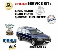 FOR VOLVO XC70 2.4D D5 185bhp 8/2005->NEW OIL AIR FUEL 3 FILTER SERVICE KIT OE