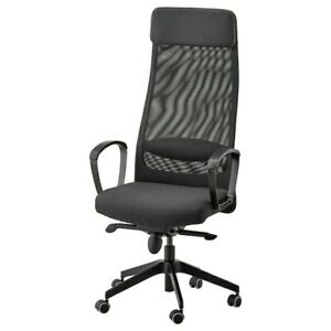 Ikea Markus Swivel Chair Vissle Dark Gray New