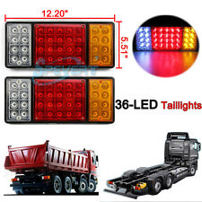 36 LED TRUCK Trailer Tail Light Van RV Stop Rear Turn Indicator Reverse Lamp 12V