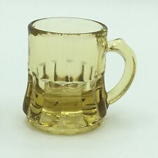 Vintage Federal Glass Company Amber Brown Shot Glass Mug Toothpick Holder