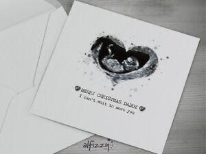 Personalised Birthday Card Baby Scan Happy Birthday Mummy Daddy Nanny Grandad ❤️