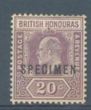 British Honduras 1904 20c sg.83 crown CA SPECIMEN  MH