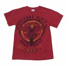 Daytona Beach 1978 Road Rally Gildan Heavy Cotton Mens Small Red Graphic T-Shirt