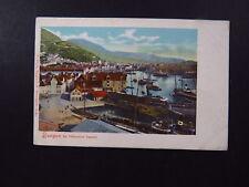 Postcard Carte Postale Norway Norge Bergen fra Valkendorf Taarnet Ships Harbor