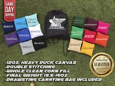 "FREE SHIPPING! Set of 8 6""x6""Premium Solid Color Corn Filled Cornhole Toss Bags"