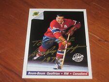 Bernard Geoffrion Autographed Hockey Trading Card JSA Auc Cert Boom Boom