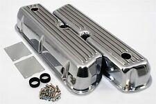 Small Block Ford Windsor 260 289 302 5.0L Retro Finned Valve Covers Aluminum SBF