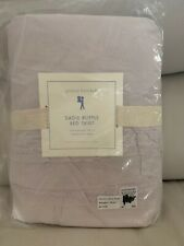 "Nwt Pottery Barn Kids Sadie Ruffle Twin bed skirt Lavender 16"" drop"