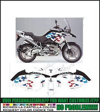 kit adesivi stickers compatibili r 1200 gs 2008 2012 dakar replica
