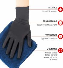 50 X 100 X 300 X Black Pvc Amp Latexfree Nitrile Gloves Piercing Tattoo M L Xl 2xl