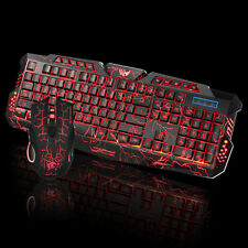 LED Gaming Wired 2.4G keyboard and Mouse Set to Computer Multimedia Gamer_US