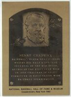 HENRY CHADWICK Hall of Fame METALLIC Plaque Card