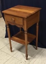 Solid Cherry 1-Drawer Vintage Nightstand/End Table