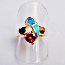 Synthetisch hergestellte Ringe Echtschmuck mit Herz-Schliffform für Damen