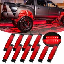 10x Red Led Underbody Light Rock Roof Lighting For Jeep Offroad Truck Trailer