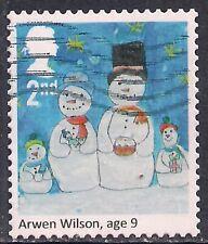 GB 2017 QE2 2nd Class Christmas Snowmen Family used SG 4028 ( 223 )