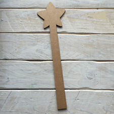 29cm MDF Wooden Star Wand Christmas Childrens Craft Party Idea Decorate Yourself