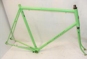 """~ Vintage Original 25"""" Schwinn Super Sport Frame, Fork - Rare Opaque Green ~"""