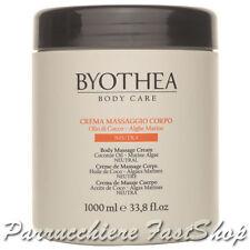 Neutral Massage Cream Byothea ® 1000ml Crema Massaggio Corpo Neutra Coconut Oil