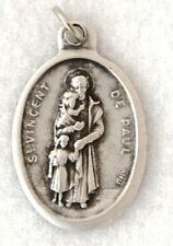 ST VINCENT DE PAUL Catholic Saint Medal Patron charities hospitals prisoners