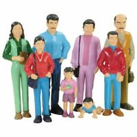 Hispanic Family Doll House Figures Set Cultural Diverse Educational Pretend Play