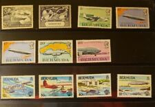 Bermuda Aircraft & Aviation Stamps Lot of 12 - MNH  - See Detail for List