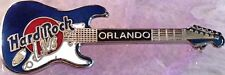 Hard Rock Live Orlando 1999 Blue/White Fender Stratocaster Guitar Pin Hrc #6963