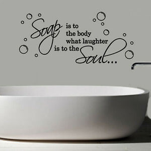 Soap Is The Body Quote Decal Vinyl Wall Sticker Art Room Décor Toilet