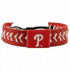 Leather Bracelet New & Licensed Philadelphia Phillies Red Baseball Seam
