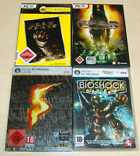 4 pc jeux collection-Resident Evil 5-Dead Space-F.E.A.R. - Bioshock