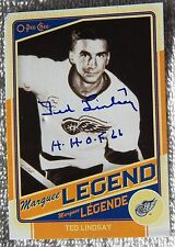Detroit Red Wings Ted Lindsay Signed12/13 O-Pee-Chee Marquee Legend Card