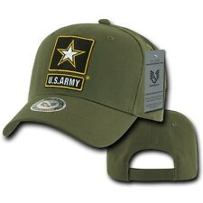 Olive Green United States Army Star Military Cotton Baseball Cap Hat Caps Hats