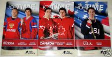 Pittsburgh Penguin 2010 OLYMPICS Icetime Magazine SET 3