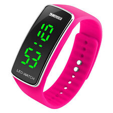 Sport LED Waterproof Digital Wrist Watch Silicone Band for Children Girls Boys