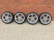 "18"" BMW ALLOY WHEELS & TYRES 313 DOUBLE SPOKE M SPORT STAGGERED E81 E82 E87 E88"