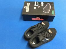 Brahma occupational shoes, steel toe, oil and slip resistant, leather, black