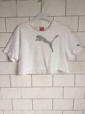 Vintage Retro años 90 festival urbano PUMA Camiseta Top Corto De Gran Tamaño UK 10-16 #146