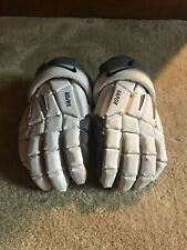 Nike Vapor Lacrosse Gloves White and Gray Color Fade Size Large