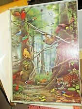 1000 Piece JIgsaw Puzzle 'The Threatened Forest' - David Quinn - Wildlife