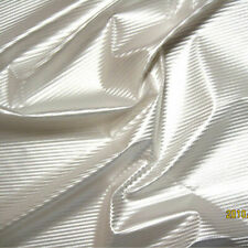 "PU VINYL PLEATHER METALLIC PEARL TOP STRIPE DANCE STAGE DRESS RAINCOAT WHITE 54"""