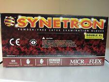 Microflex Synetron Latex Glove, Powder Free, Extended Cuff  XX-LARGE 50/Bx