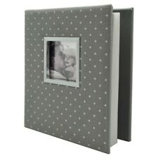 "ELSA Polka Dot Photo Album | Gray/White | Two 4""x6"" Photos/Page 